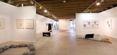 Die Künstlerin Andrea Niessen ist vor Ort