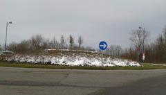 Umbau der A5-Anschlussstelle als Kreisverkehrsplatz