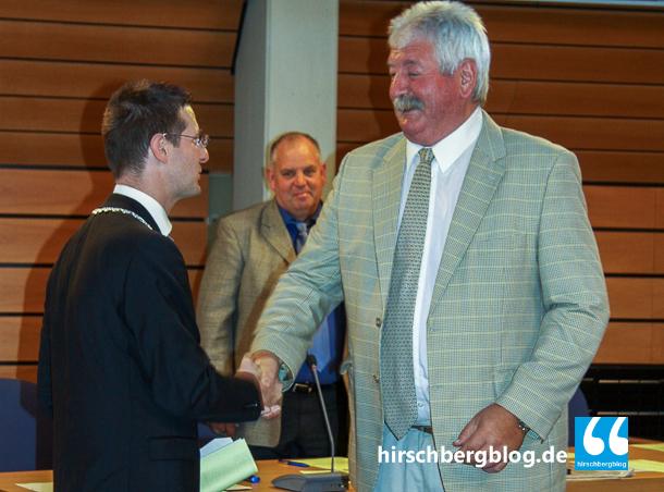Fritz Bletzer - Stimmkönig der Freien Wähler (rechts) ist alter und neuer Stellvertreter von Bürgermeister Manuel Just (links).